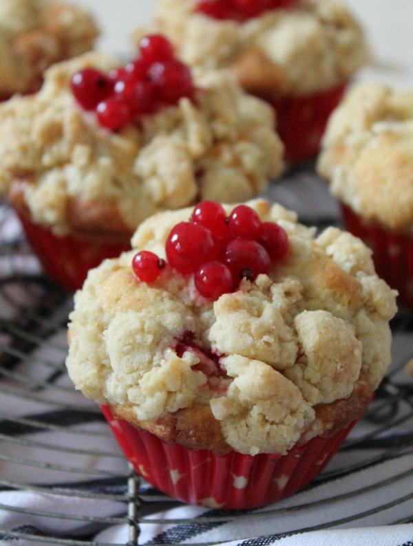Johannisbeeren Muffins Streusel