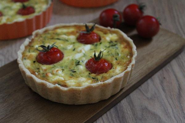 Saison-Rezept August: Zucchini-Tomaten-Quiche