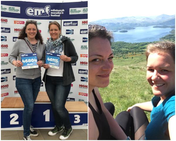 Startunterlagen abholen beim Edinburgh Marathon Festival und Wanderung zum Conic Hill